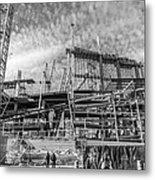 Minnesota Vikings U S Bank Stadium Under Construction Metal Print