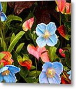 New World And Old World Exotic Flowers Metal Print
