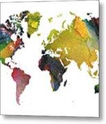 New World Map Metal Print