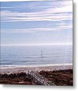 New Year Carolina Beach Metal Print