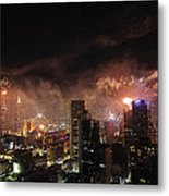 New Year Fireworks Metal Print by Ray Warren
