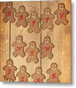 New Year Gingerbread Metal Print