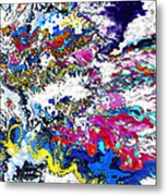 New Year's Day With Snow Metal Print