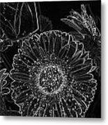New Years Eve Flower Metal Print