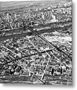 New York 1937 Aerial View  Metal Print
