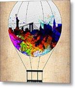 New York Air Balloon Metal Print