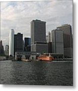New York And Staaten Island Ferry Metal Print