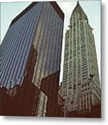 New York Architecture Old And New Metal Print