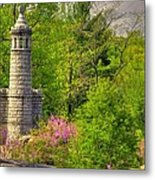 New York At Gettysburg - Monument To 12th / 44th Ny Infantry Regiments-1a Little Round Top Spring Metal Print by Michael Mazaika