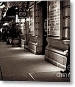 New York At Night - The Phone Call - Theatre District Metal Print