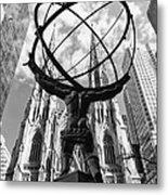 New York - Atlas Statue Metal Print