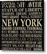 New York Attractions Metal Print