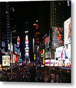 New York - Broadway And Times Square Metal Print