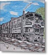 New York Central Train Metal Print