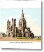 New York City - The Cathedral Church Of St John The Divine - 1915 Metal Print