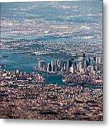 New York City Aerial Metal Print