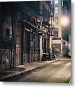 New York City Alley At Night Metal Print