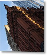 New York City - An Angled View Of The Potter Building At Sunrise Metal Print