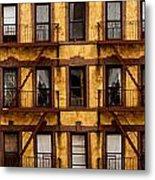 New York City Apartment Building Study Metal Print