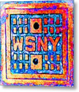 New York City Autumn Street Detail Pop Painting Metal Print