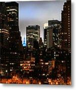 New York City Blue Metal Print