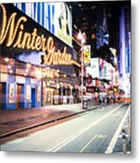 New York City - Broadway Lights And Times Square Metal Print