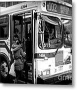 New York City Bus Metal Print