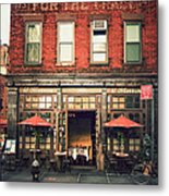 New York City - Cafe In Tribeca Metal Print