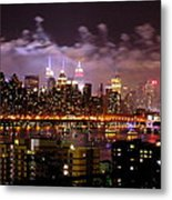 New York City Celebrates Metal Print