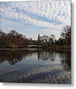 New York City Central Park Bow Bridge Quiet Reflections Metal Print