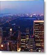 New York City Central Park Manhattan Panorama Metal Print