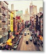 New York City - Chinatown Street Metal Print