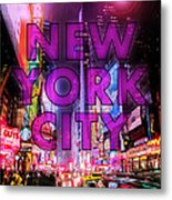 New York City - Color Metal Print