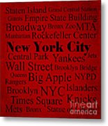 New York City Metal Print by Denyse and Laura Design Studio