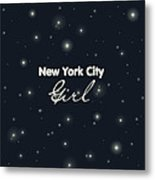 New York City Girl Metal Print by Pati Photography