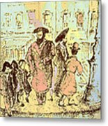 New York City Jews - Fine Art Metal Print