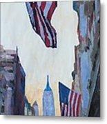 New York City - Manhattan Stars And Stripes Metal Print