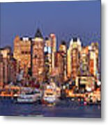 New York City Midtown Manhattan At Dusk Metal Print