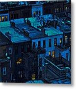 New York City Nightfall Metal Print