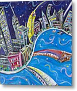 New York City Nights Metal Print