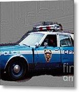 Vintage New York City Police Car 1980s Metal Print