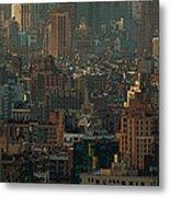 New York City Posterized Metal Print