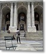 New York City Public Library Metal Print