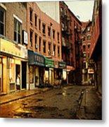 New York City - Rainy Afternoon - Doyers Street Metal Print by Vivienne Gucwa