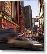 New York City Rush Metal Print