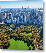 New York City Skyline, Central Park Metal Print