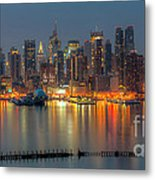 New York City Skyline Morning Twilight Xii Metal Print
