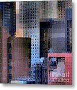 New York City Skyline No. 3 - City Blocks Series Metal Print