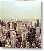 New York City - Skyline On A Hazy Evening Metal Print by Vivienne Gucwa