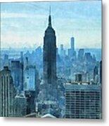 New York City Skyline Summer Day Metal Print